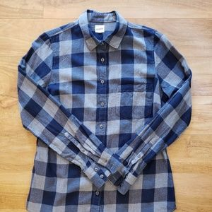 Nice J CREW jcrew blue buffalo plaid shirt S